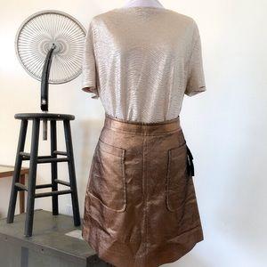 Marc Jacobs - Bronze A-Line Skirt